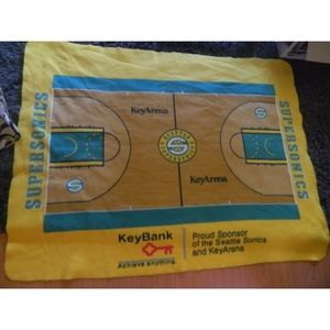 NBA Seattle Supersonics throw blanket